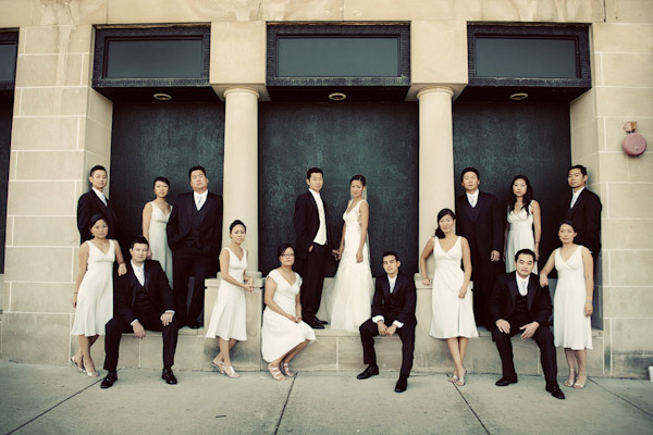 classically composed and beautiful wedding group photo by Kenny Nakai Photography