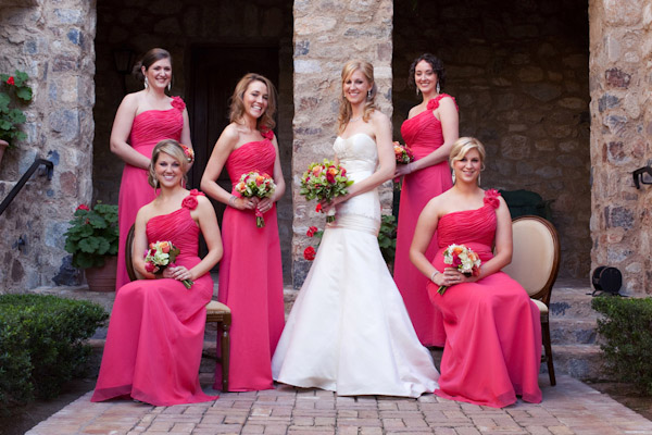 classically composed and beautiful wedding group photo by Melissa Jill Photography