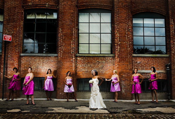 classically composed and beautiful wedding group photo by Ryan Brenizer Photography