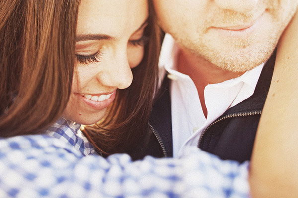super close-up engagement portrait, photo by Sean Flanigan Photography