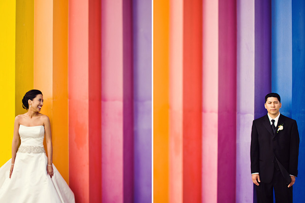 creative use of color in wedding photo composition, photo by The Image is Found