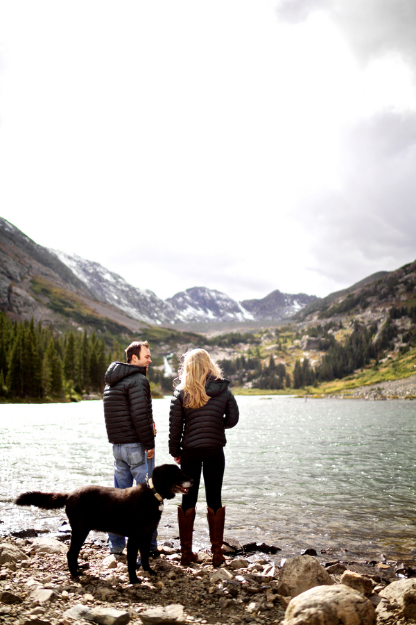Breckenridge, Colorado engagement session in the snow, photos by Jason + Gina Wedding Photographers