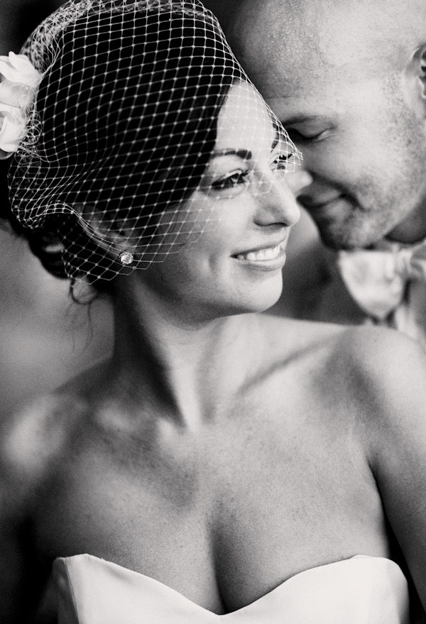 romantic black and white portrait of the happy couple - photo by Denver based destination wedding photographer Otto Schulze