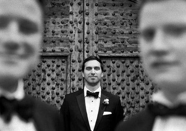 creative groom wedding portrait by Harrison Hurwitz Photography