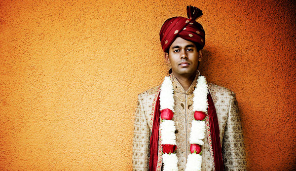 creative groom wedding portrait by J. Cogliandro Photography