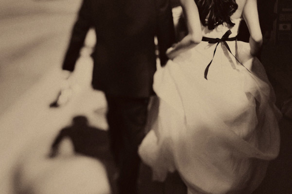 creative wedding photo with motion by Bebb Studios