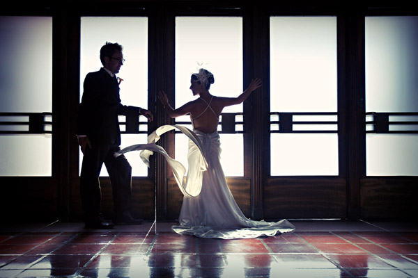 creative wedding photo with motion by Callaway Gable Photography