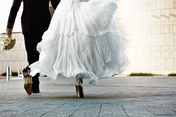 creative wedding photo with motion by John and Joseph Photography
