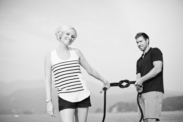 beautiful and happy engagment photos taken at Deep Cove, Vancouver, Canada by Lucida Photography