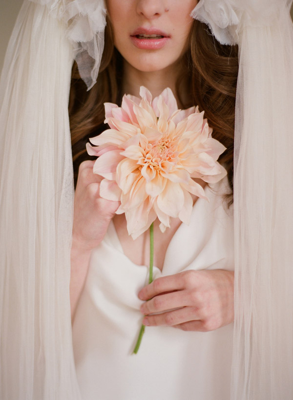 bridal fashion photo shoot by Elizabeth Messina - wedding dresses by Parisian designer Delphine Manivet, The Lovely Bride NYC