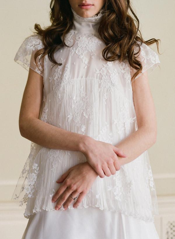 bridal fashion photo shoot by Elizabeth Messina - wedding dresses by Parisian designer Delphine Manivet, The Lovely Bride NYC