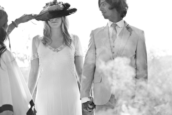 black and white photo of bride and groom during Shaman wedding ritual - beautiful destination wedding in San Miguel, Mexico - photo by top California wedding photographer Brett Butterstein