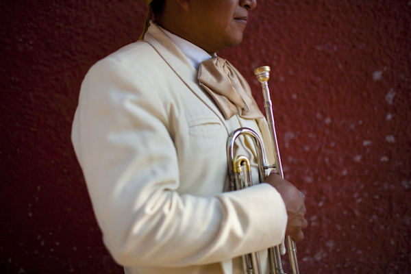 beautiful destination wedding in San Miguel, Mexico - close up portrait of mariachi trumpet player - photo by top California wedding photographer Brett Butterstein