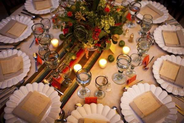 reception tabletop detail shot - beautiful destination wedding in San Miguel, Mexico - photo by top California wedding photographer Brett Butterstein