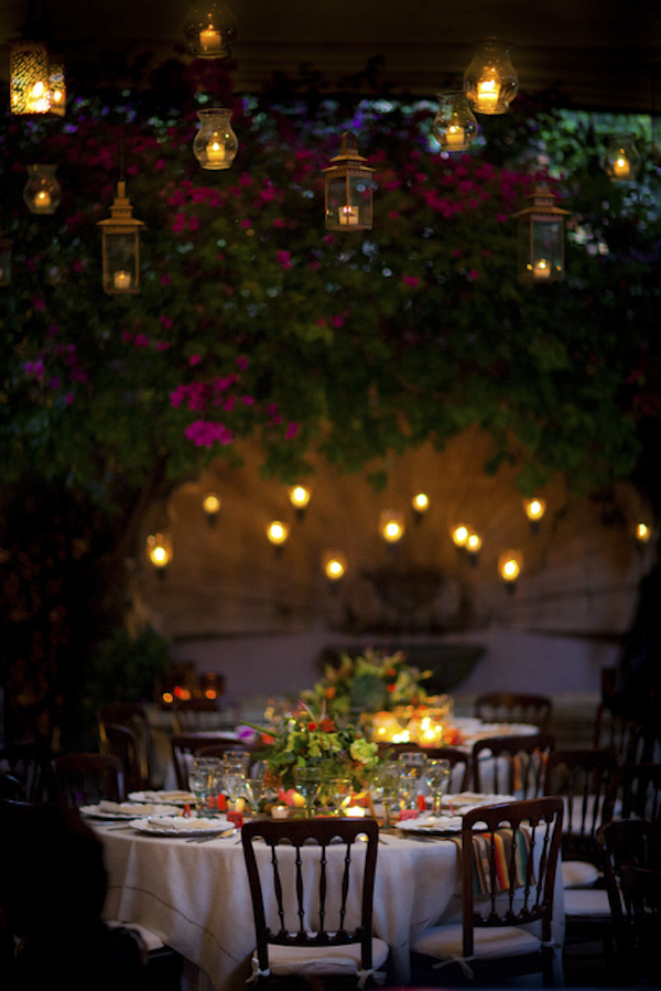 gorgeous candle lit wedding reception at Casa Schuck - beautiful destination wedding San Miguel, Mexico - photo by top California wedding photographer Brett Butterstein