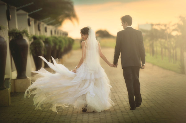 gorgeous sunset wedding photo by Natasha Dupreez Photography