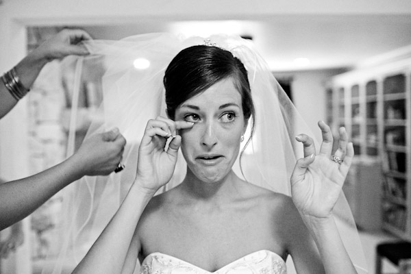 heartbreaking wedding photo of a crying bride by Ben Chrisman Photography