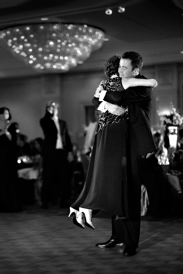 a groom and his mother wedding dance photo by Chris + Lynn