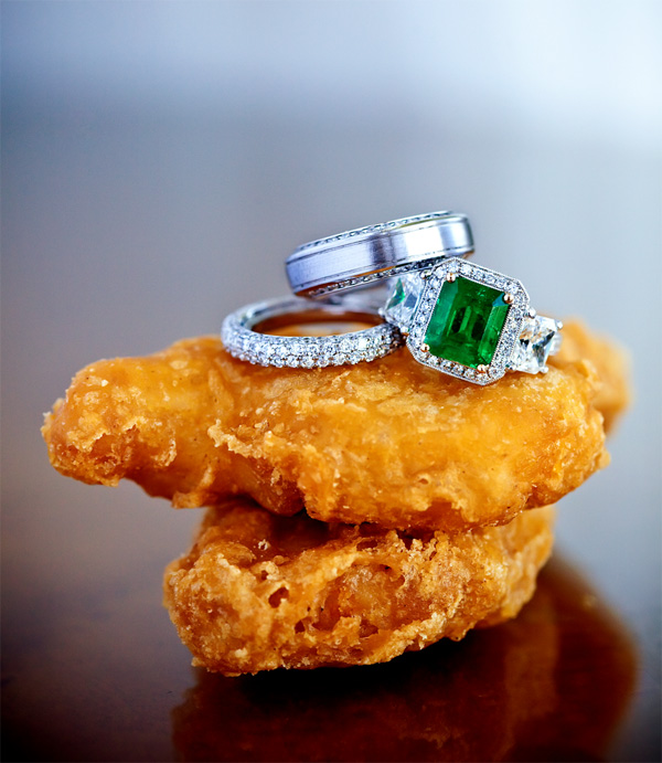 hilarious chicken nugget and wedding ring photo by Jay Lawrence Goldman