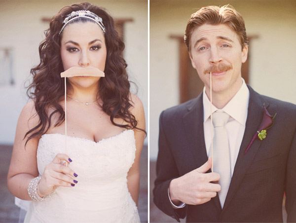 hilarious moustache wedding photo by Stephanie Williams Photography