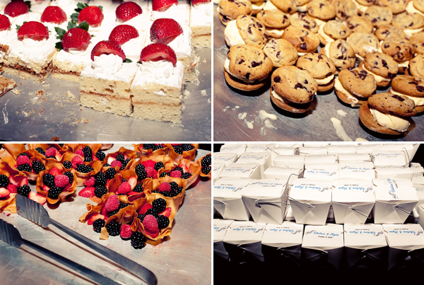 wedding reception desserts - contemporary Jewish wedding at the Ravenswood Event Center in Chicago - photos by Studio 6.23