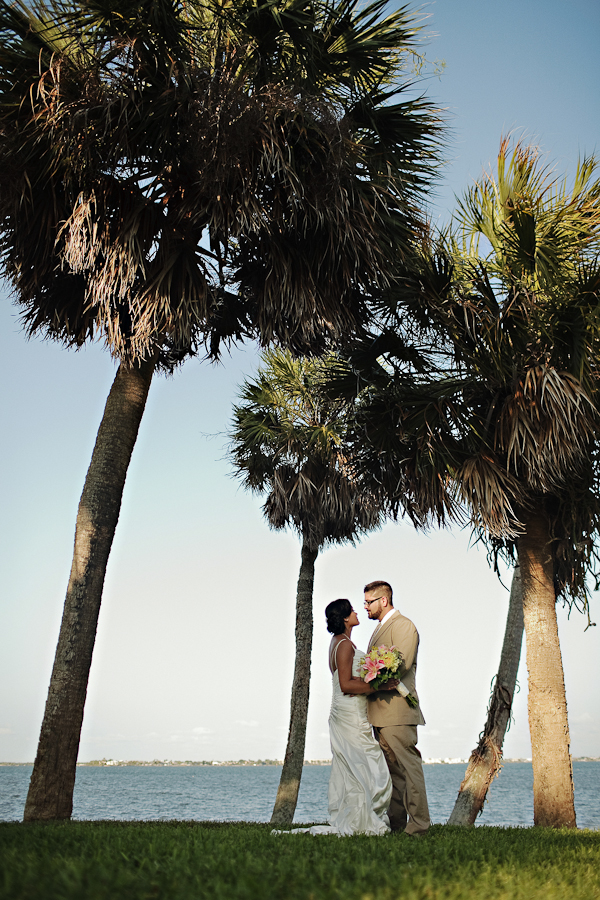 Portrait of the Bride and groom- Jensen Beach, Florida wedding - photos by Kat Braman