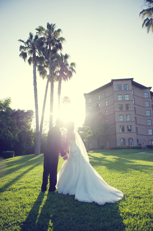 real wedding at the Langham Hotel in Pasadena California - photo by Boutwell Studio