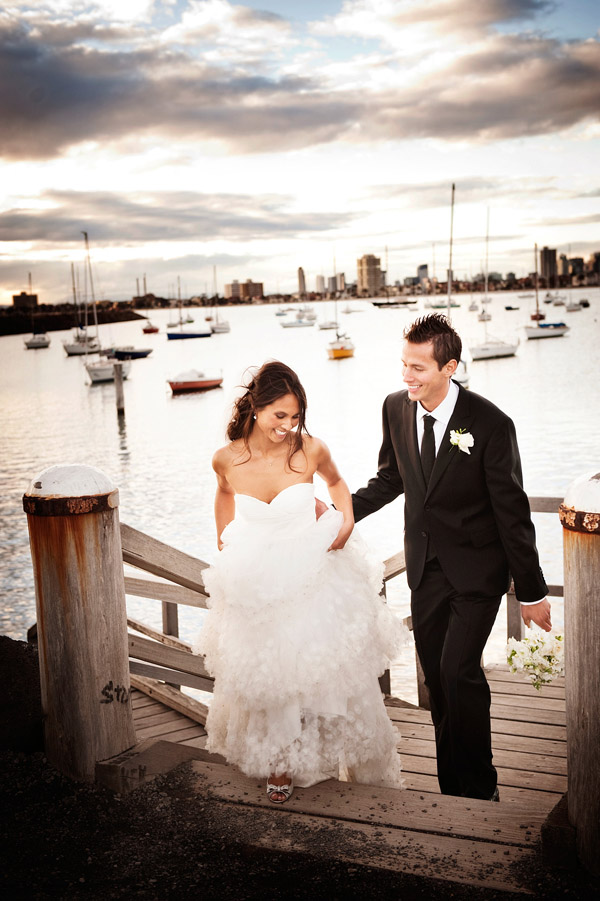 Melbourne, Australia beach real wedding, photos by top destination wedding photographer Marcus Bell of Studio Impressions