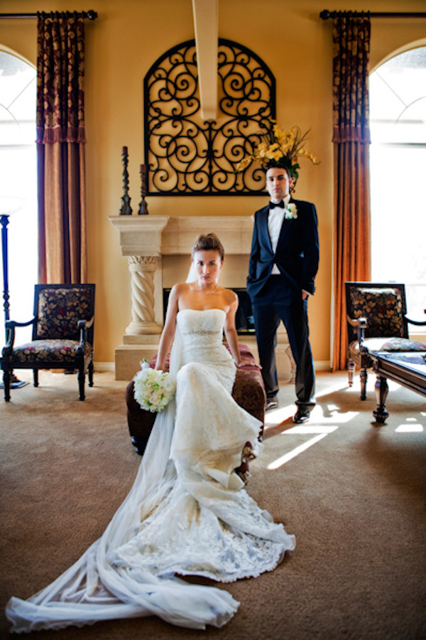 modern wedding couple portrait by John and Joseph Photography