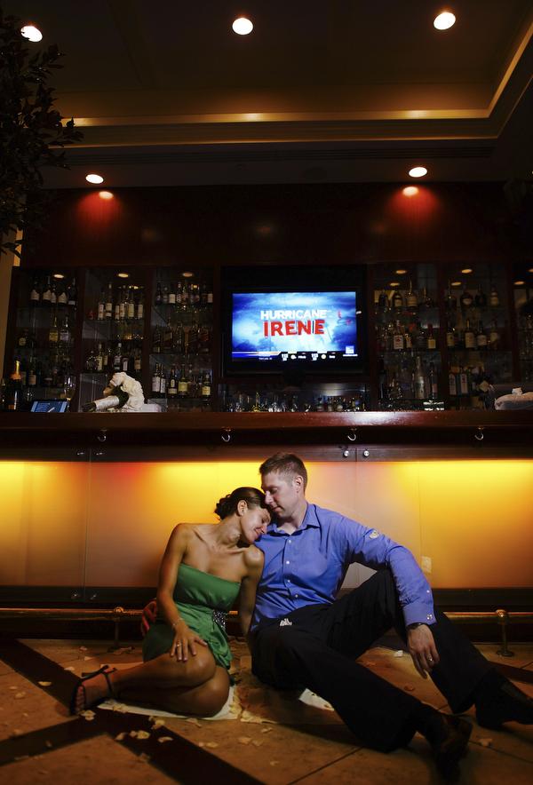 New York City wedding during Hurricane Irene - photos by NYC wedding photographer Ryan Brenizer