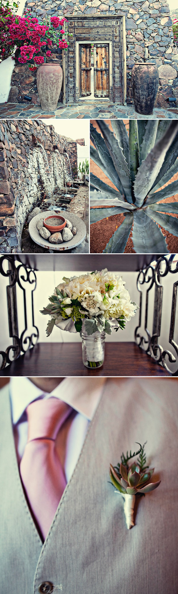 Palm Springs destination real wedding decor details, photos by Joy Marie Photography