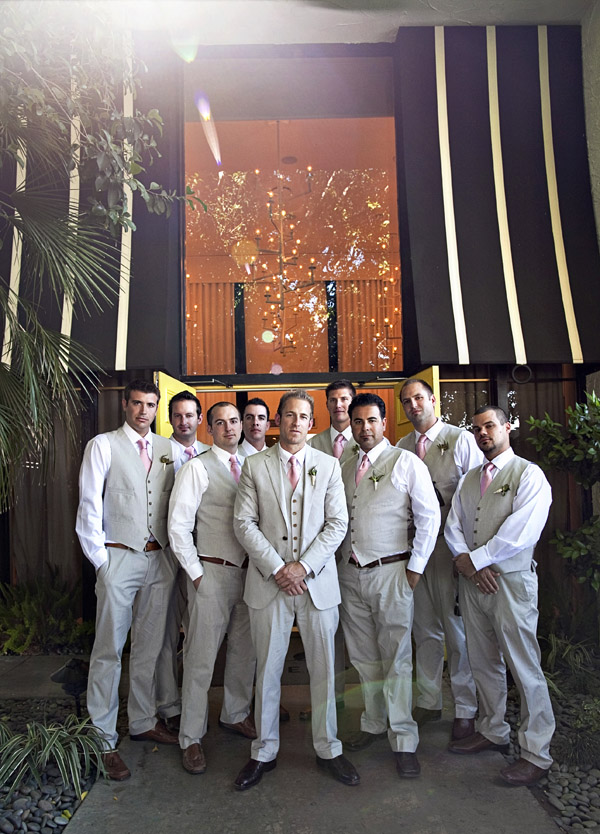 Palm Springs destination real wedding, groomsmen portrait, photos by Joy Marie Photography
