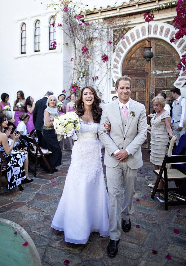 Palm Springs destination real wedding ceremony at Korakia Pensione, photos by Joy Marie Photography