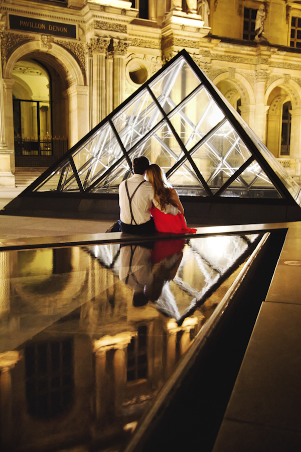 Paris, France engagement shoot adventure - Eiffel Tower to the Louvre Museum - photos by International, award-winning, Miami based destination photographer Cengiz Ozelsel of Adagion Studio