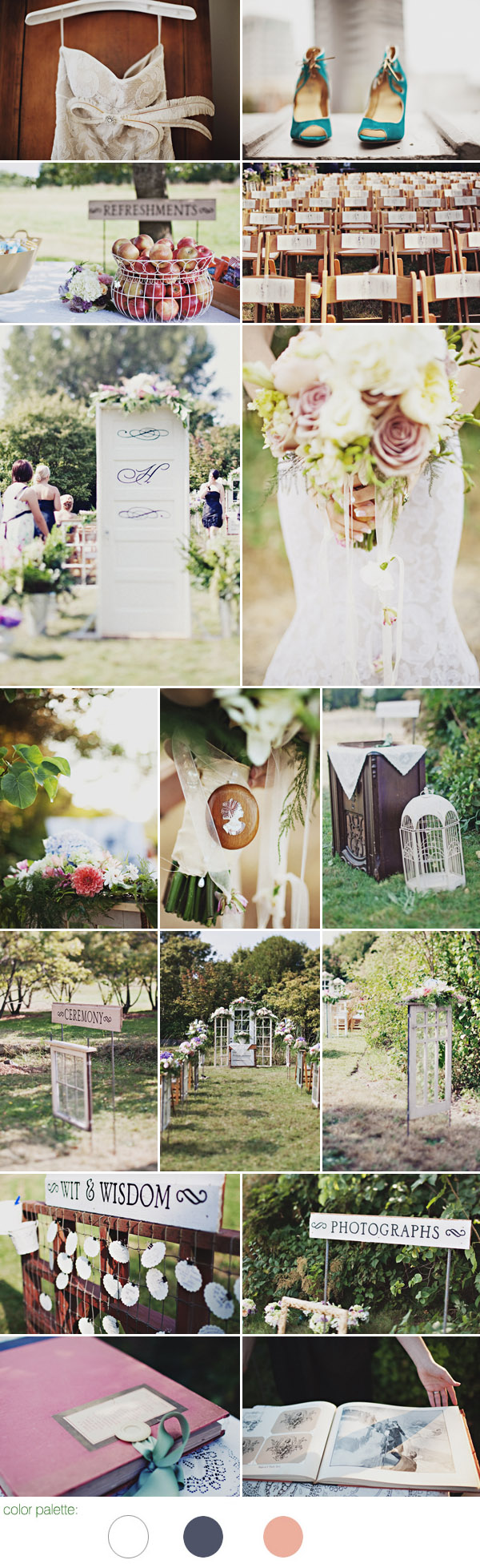 romantic and vintage garden wedding at the University of Washington's Botanic Gardens and Seattle's SODO Park by Herban Feast, photos by Sean Flanigan Photography