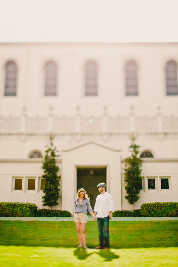 stylish outdoor engagement photo shoot by Southern California wedding photography team Anika London
