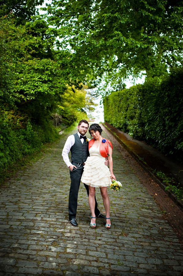 hip vintage inspired anniversary portraits in Queen Anne Seattle, photo by top wedding photographer Laurel McConnell Photography