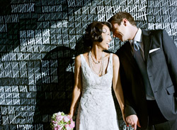 Vintage black and white fashion backdrop wedding decor by Amy and Stuart Photography, from the Junebug Weddings Image Gallery