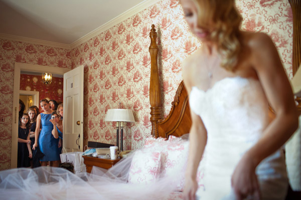 getting ready for a wedding day photo by Brett Butterstein