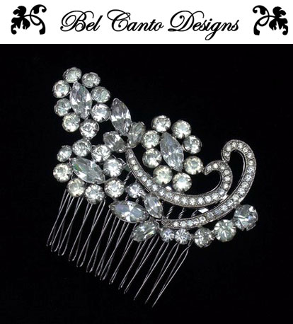 Vintage bridal hair accessories and jewelry from Bel Canto Designs