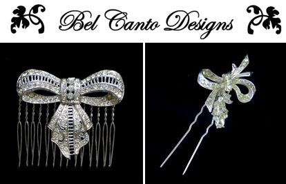 Bel Canto Designs vintage wedding fashion accessories