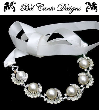Vintage wedding hair accessories and jewelry by Bel Canto Designs