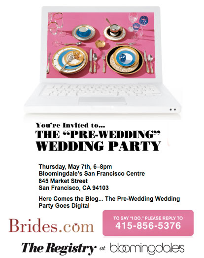 San Francisco wedding registry event with Bloomingdale's and Brides.com