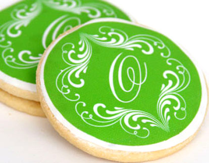 Custom wedding cookies from Gumdrop Cookie Shop