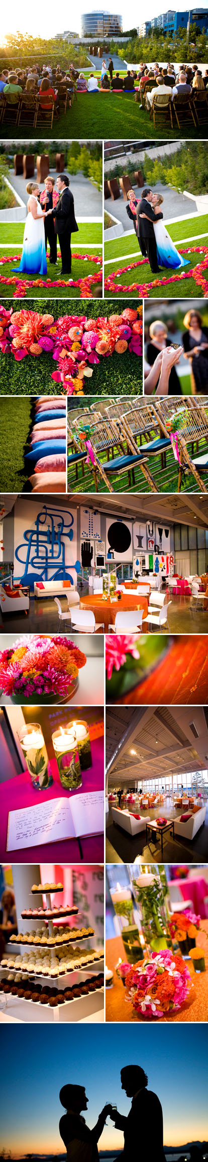Stephanie Cristalli Photography, Indian inspired summer wedding, Olympic Sculpture Park Seattle