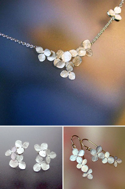 nature inspired bridal jewelry by Patrick Irla Jewelry on Etsy.com