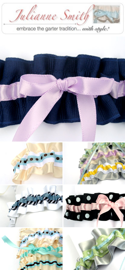 Bridal garters by Julianne Smith