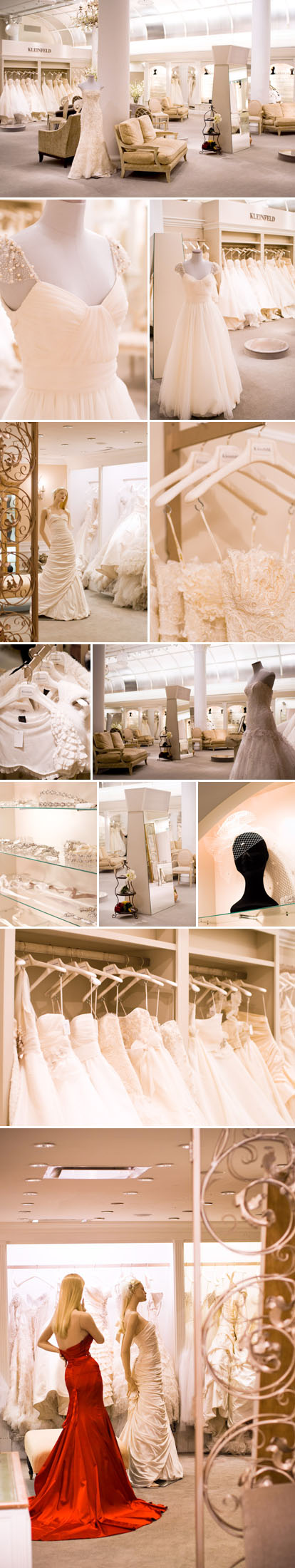 Kleinfeld Bridal, 'Say Yes to the Dress' wedding dress shop in New York City, images by Junebug Weddings