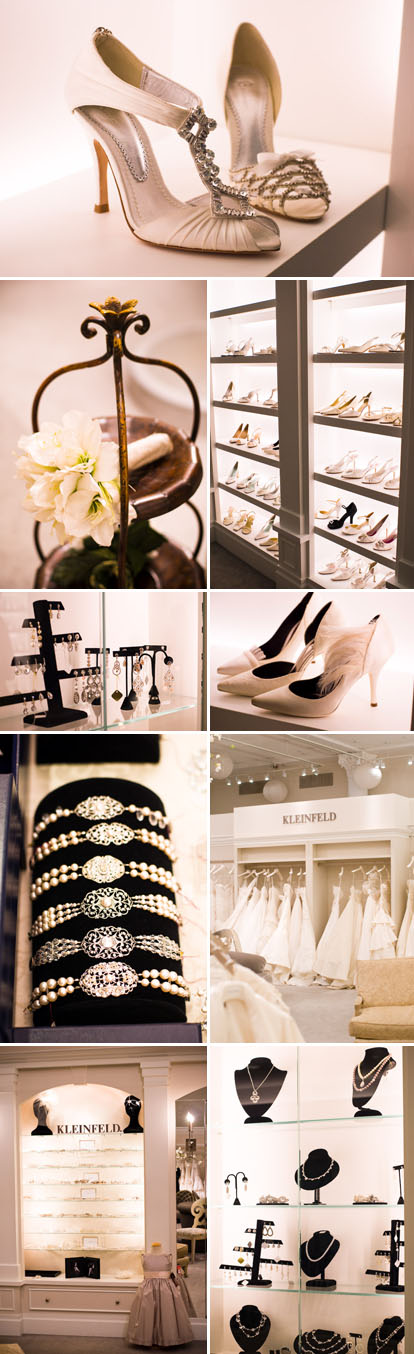 Kleinfeld Bridal, 'Say Yes to the Dress' wedding dress and accessories shop in New York City, images by Junebug Weddings