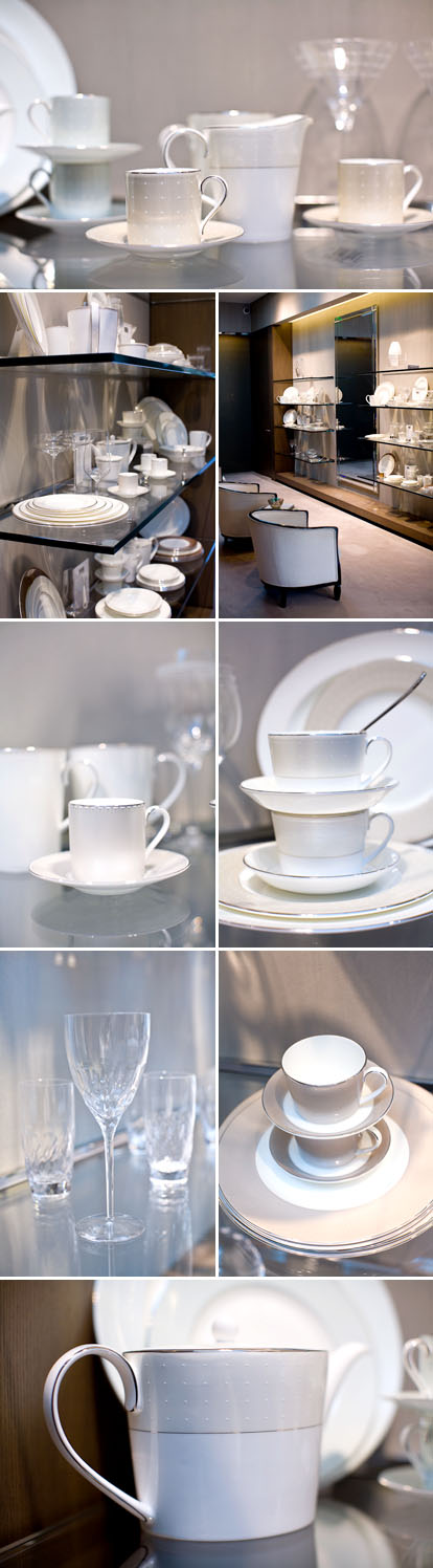 Monique Lhuillier for Royal Doulton, wedding dress inspired china, glassware and flatware collections